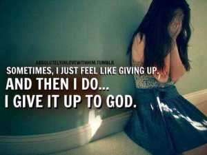 GIVE IT UP 2 GOD