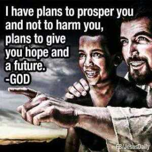 JESUS' PLANS